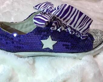 Women's purple converse