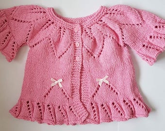 Baby Girl Clothes, knitted Baby Clothes, Hand Knitted,