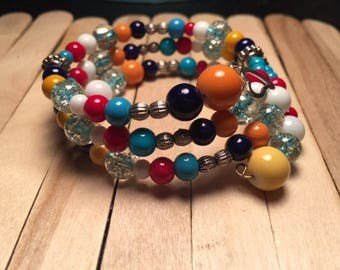 Multicolor Beaded Wraparound Bracelet