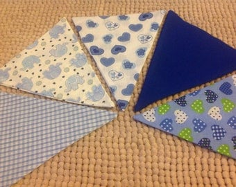 Design your own blue bunting