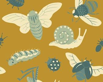 Birch Fabrics - Bugs Gold - Sold by the Half Yard
