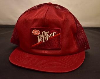 vintage 80s dr pepper snapback hat