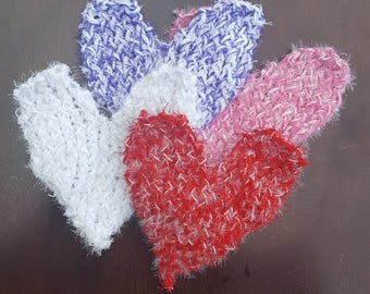 Heart Scrubbies/Dish Scrubbies/Dish Scrubbers/Bath Scrubbers--Made to Order