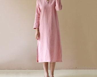 linen dress,Linen clothes, party dress,Handmade dress,ladies clothing