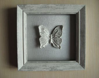 Silver butterfly wall decor/ white butterfly/ butterfly wall art/ wall butterfly/ butterfly art/ butterfly art/ wedding git/ butterfly wall