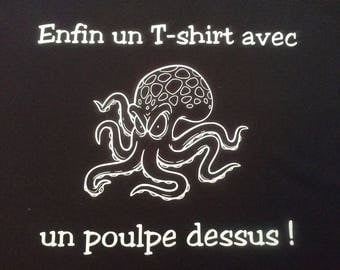 T-shirt funny Octopus man or woman