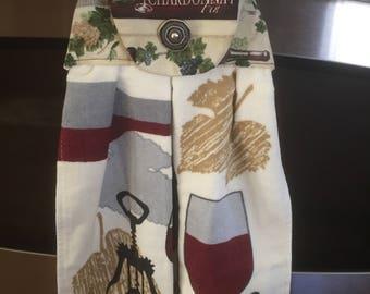 Wine glasses Decorative oven door towel