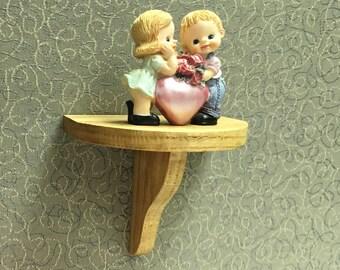 Office shelf, partition shelf, small shelf for partition, small wood shelf, cubicle shelf