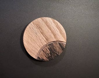 Eclipse dishwasher magnet, clean, dirty, clean/dirty, dirty/clean, handmade from almost discarded wood