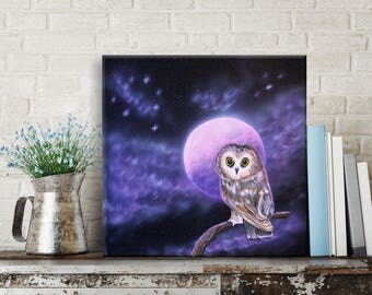 OWL | Fantasy airbrush & acrylic on canvas 40 x 40 cm