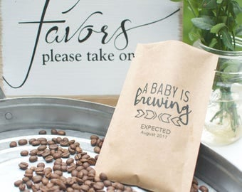 Thank You Gifts for Baby Shower-Personalized Bulk Coffee Favors-Baby Shower Favors-Coffee Favor Bags