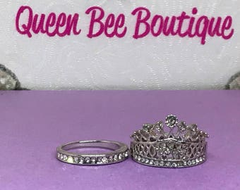 QUEEN and CROWNED RING