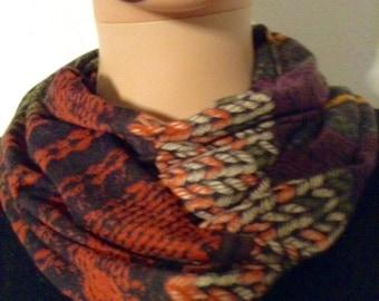 Echarpe foulard jersay fluide imprimé impression mutimatiere