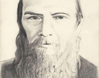 A Portrait of Fyodor Dostoyevsky (print)