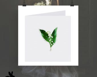 """Watercolour Cards - """"Modern Love"""" Lily Of The Valley"""