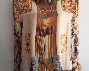 silk blouse egyptian style size M