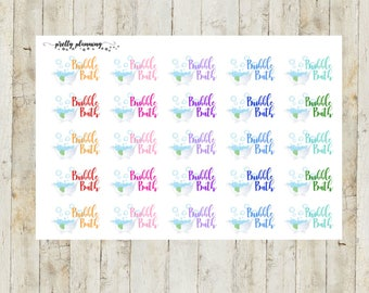 Bubble Bath Planner Stickers by Pretty Planning! Colorful and fun stickers ideal for planning your life!