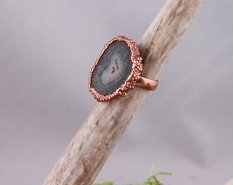 Uruguay Stalactite Slice Ring Size 8