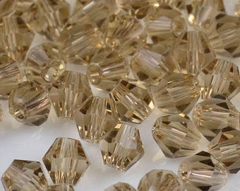 Bronze Faceted Faceted Bicone Spacer Beads, Faceted Round Beads, Loose Red Beads, USA Seller, Beading Supplies, 4mm, 100 pcs