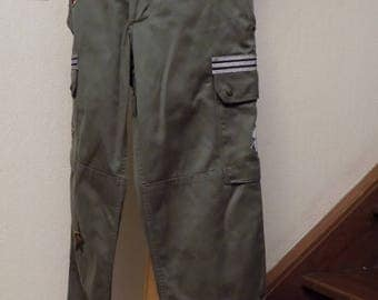 Military pants in cotton canvas