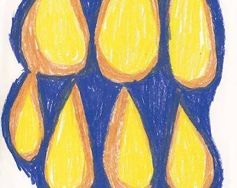 GICLÈE PRINT | Golden Drops | Contemporary Art