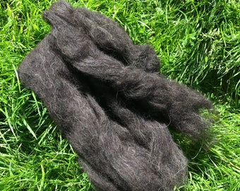 Hebridean wool top / fleece 100% organic washed and carded