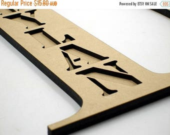 20% OFF 20cm Stencil MDF Wood Wooden Letters 6mm Thick