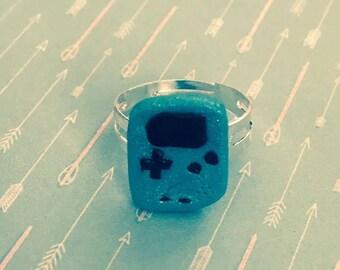 Blue Gameboy color ring