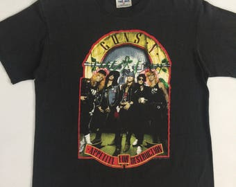 True Vintage Guns N' Roses Shirt // 1988 Appetite For Destruction Welcome To the Jungle