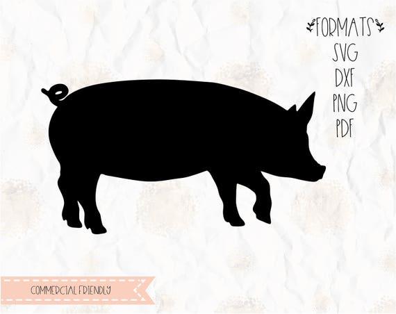 Pig Farm Animal Pork Piglet Bacon Svg Png Dxf For