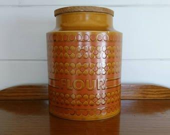 Large Hornsea Saffron Flour Container Pot Cannister