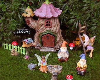 Twisted Stump House Fairy Garden Kit - Fairy Garden Ideas, Fairy House, Fairy Garden, Elf Garden Ideas, Gnome Garden, Fairy Garden Supply