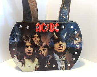 AC/DC Highway to Hell vinyl record purse