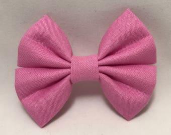 Princess Pink - Fabric Barrette Bow