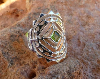 Silver gem ring / silver ring with stone