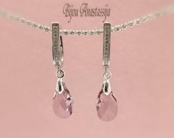 Earrings Sterling Silver 925-er with Swarovski crystal
