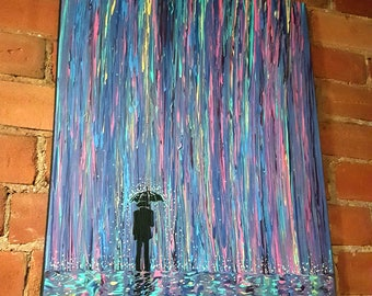 Acid Rain 2 - *Made to Order painting* - original painting by flooko