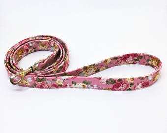 Pink Dog leash - Flower Dog leash - Dog leash Australia