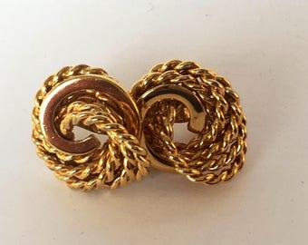 Monet rope knot clip on earrings