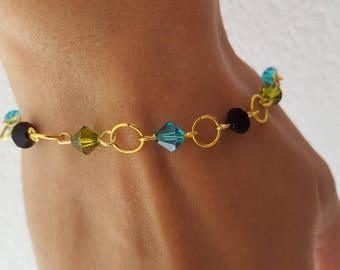 Triangle swarovsky Crystal bracelet