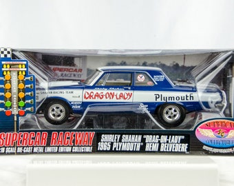 Rare Supercar Shirley Shahan Drag-on-Lady 1965 Plymouth Belvedere 1/18 Diecast
