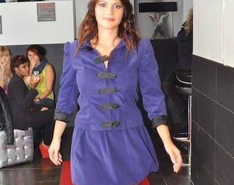 Handmade purple corduroy jacket unique sofya FDX
