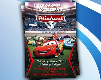 Disney Cars|Cars Invitation|Cars Birthday Invitation|Disney Cars Invitation|Cars Birthday|Cars Birthday Party|Cars 3|Cars 3 Invitation
