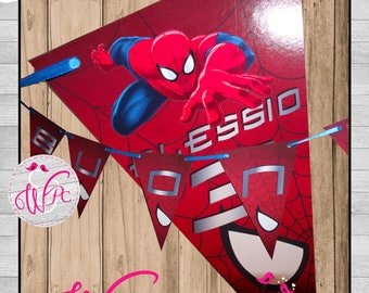 Spiderman Birthday Flags