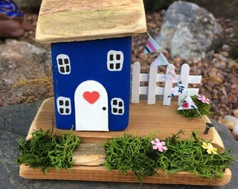Handmade Wooden Collectable Cottage, Gift, Miniature