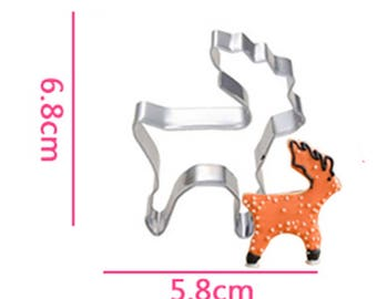 Deer Cookie Cutter- Fondant Biscuit Mold - Pastry Baking Tool Set