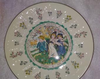 Kate Greenaway Taurus plate