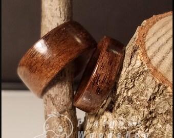 Wooden Ring - Black Walnut - Bent Wood - Custom Ring