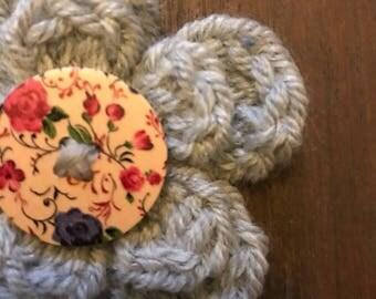 Beautiful handmade crochet magnet