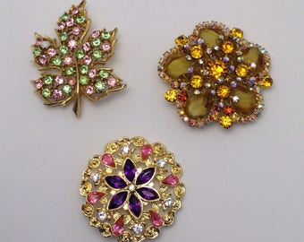 Vintage Brooch Set of 3